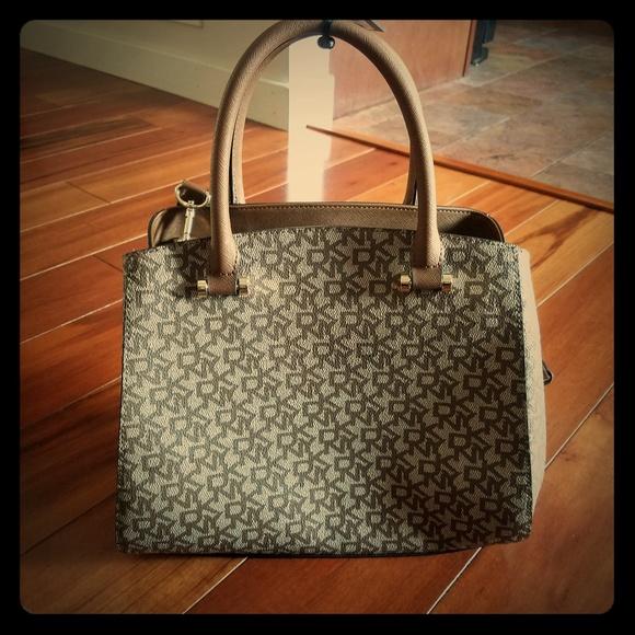 Dkny Handbags - NWT DKNY Brown Vela Triple Comp Satchel